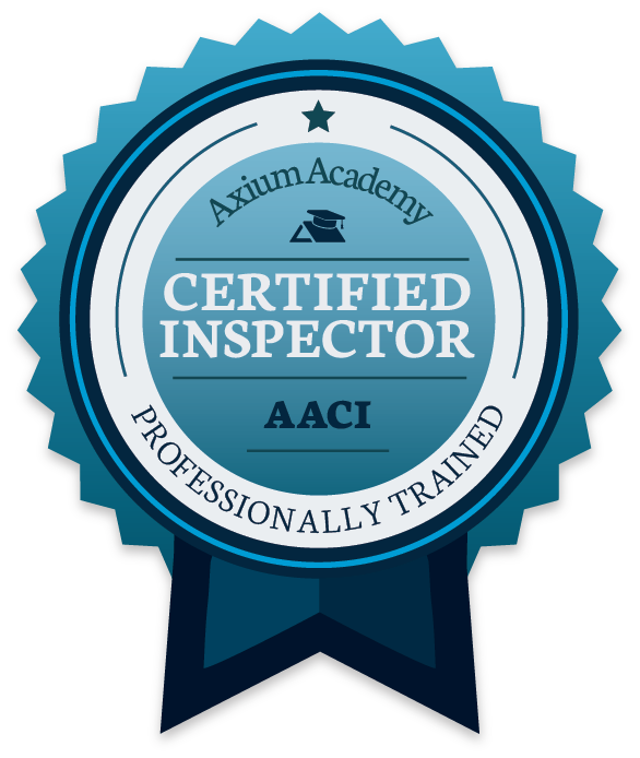home inspector certified by Axium Academy